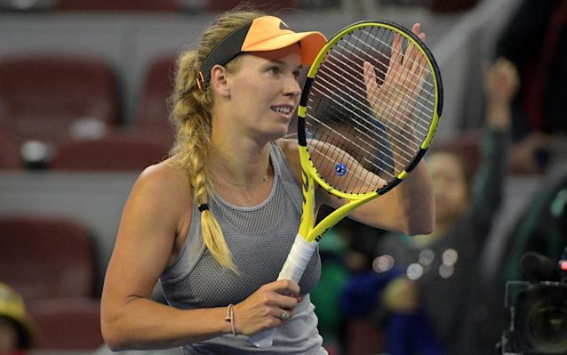 Caroline Wozniacki won only one grand slam but worked harder than almost anybody on the women's tour - AFP