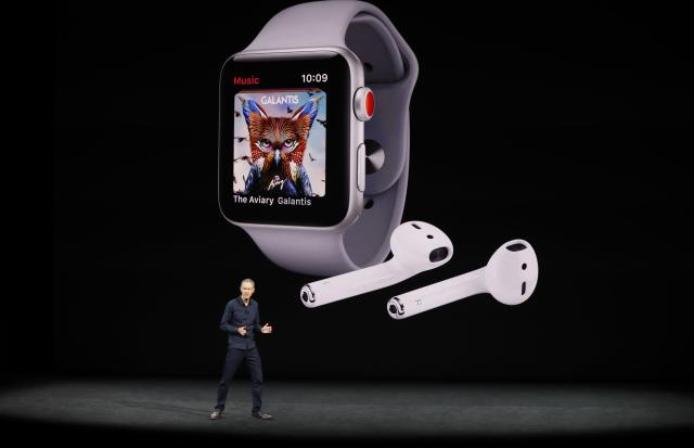 <p>If you want to listen to music, or take a call (thanks to the new cellular capabilties of the Apple Watch), this is all you need. REUTERS/Stephen Lam </p>