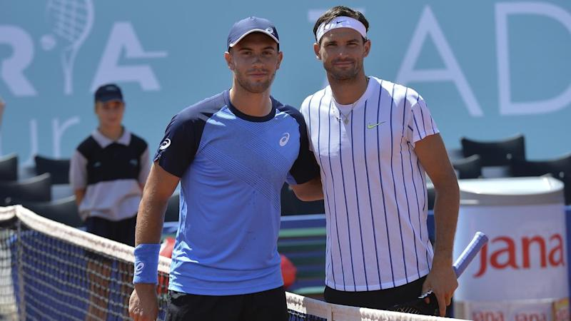Borna Coric (l) and Grigor Dimitrov (r) have tested positive for COVID-19 after playing in Croatia