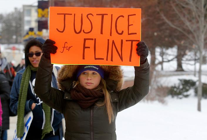 flint michigan water crisis protest