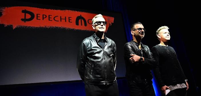 Depeche Mode (from left to right) Andrew Fletcher, Dave Gahan and Martin Gore, straddled mainstream and underground audiences in the 1980s (AFP Photo/Giuseppe Cacace)