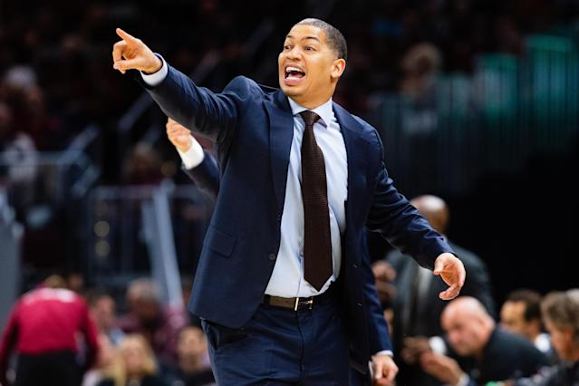 "Tyronn Lue is reportedly joining the <a class=""link rapid-noclick-resp"" href=""/nba/teams/la-clippers/"" data-ylk=""slk:Clippers"">Clippers</a> sideline. (Getty)"
