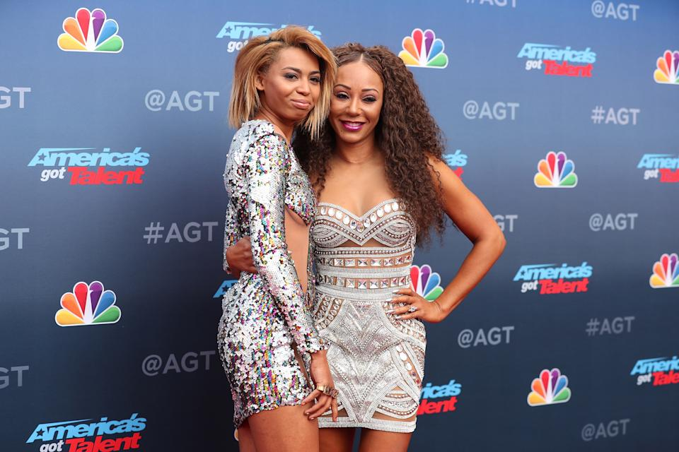 PASADENA, CA - MARCH 12:  Phoenix Chi Gulzar and Mel B attend the red carpet kickoff for