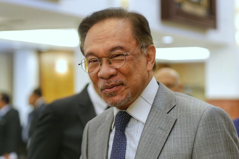 Datuk Seri Anwar Ibrahim is pictured in Parliament October 8, 2019. — Picture by Ahmad Zamzahuri