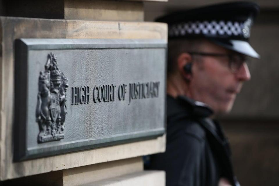 Sam Imrie is standing trial at the High Court in Edinburgh where he is accused of nine offences – three of which come under the Terrorism Act (Andrew Milligan/PA) (PA Archive)