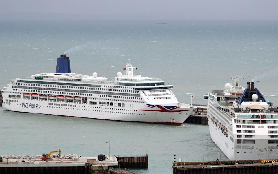 P&O Cruises has cancelled sailings until at least April - Gareth Fuller/PA