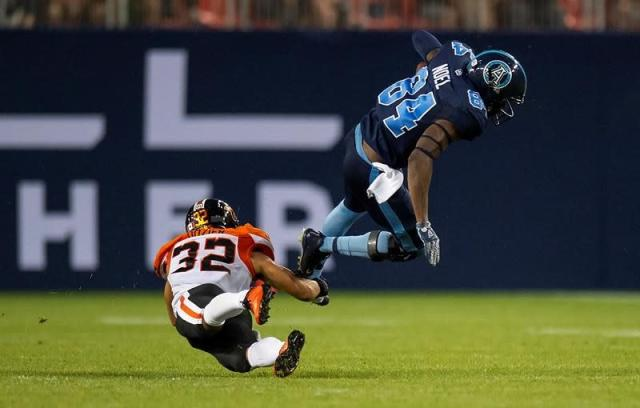 """TORONTO — DeVone Claybrooks' first CFL head-coaching win was anything but pretty.Sergio Castillo's single off a missed 42-yard field goal try on the final play earned B.C. an 18-17 decision over the Toronto Argonauts on Saturday night. But after watching his club come up short in their first three games, even an ugly victory was a thing of beauty for the Lions rookie head coach.""""Anything worth having in life is worth working for and those guys worked for it and we finished,"""" Claybrooks said. """"Serge came in and missed it but got enough on it to give us a point.""""A win is a win. We'll take it.""""Toronto made it 17-17 with 40 seconds remaining on McLeod Bethel-Thompson's 23-yard TD strike to James Wilder Jr. and two-point conversion toss to S.J. Green. But Drew Brown's kickoff went out of bounds, giving B.C. possession at its 45 with 38 seconds remaining.Quarterback Mike Reilly drove the Lions (1-3) to the Toronto 30-yard line, setting up a 37-yard boot. But predictably in a contest full of mistakes, B.C. received an illegal procedure penalty, forcing Castillo to try the 42-yard boot.Castillo's kick sailed wide for his first miss of the season. Chris Rainey corralled the ball but stepped on the back boundary line, giving B.C. the win.Traditional CFL endzones are 20 yards deep however they're just 18 yards at BMO Field. But that was of little solace to Rainey, who was facing his former team for the first time.""""I feel like I lost the game for the team,"""" Rainey said. """"It (kick) was kind of high, I kept going back and tried not to go too far deep.""""I caught it, took a step, looked and saw the white and heard the whistle. That was it, worst feeling I've ever had.""""Ironically, B.C. practised last week driving from its 45-yard downfield to kick a game-winning field goal with time running out.""""When you practise situational football, they've been in it before and there's no panic,"""" Claybrookes said. """"Kudos to Mike, when you have a quarterback like that you let him handle it and he p"""