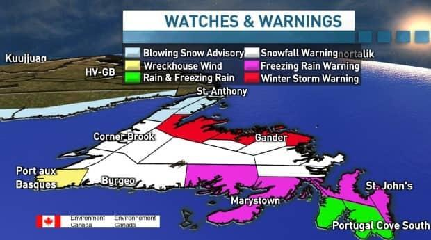 There are six weather watches and warnings in effect for the province.