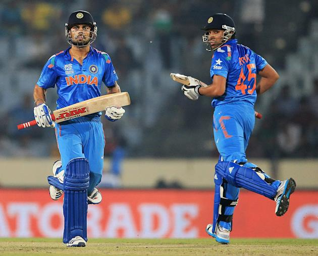 Virat Kohli and Rohit Sharma added 106 for the second wicket