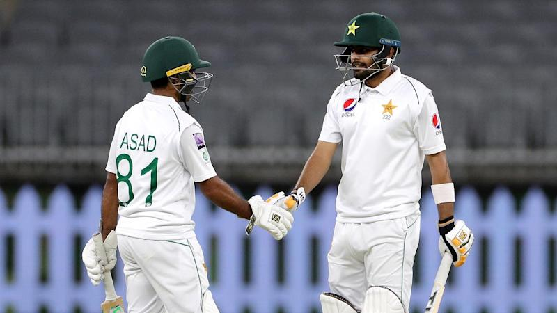 Babar Azam (r) and Asad Shafiq both hit centuries for Pakistan in the match with Australia A