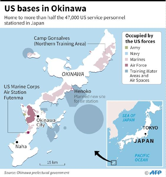 Japan Resumes Work On Controversial US Base On Okinawa - Us bases in japan map