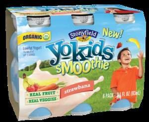 New Stonyfield YoKids Smoothies Shake Up Snack Time