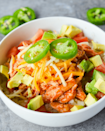 """<p>A diet that includes Mexican food is one we can get down with.</p><p>Get the recipe from <a href=""""https://www.heyketomama.com/keto-chicken-enchilada-bowl/"""" rel=""""nofollow noopener"""" target=""""_blank"""" data-ylk=""""slk:Hey Keto Mama"""" class=""""link rapid-noclick-resp"""">Hey Keto Mama</a>.</p>"""