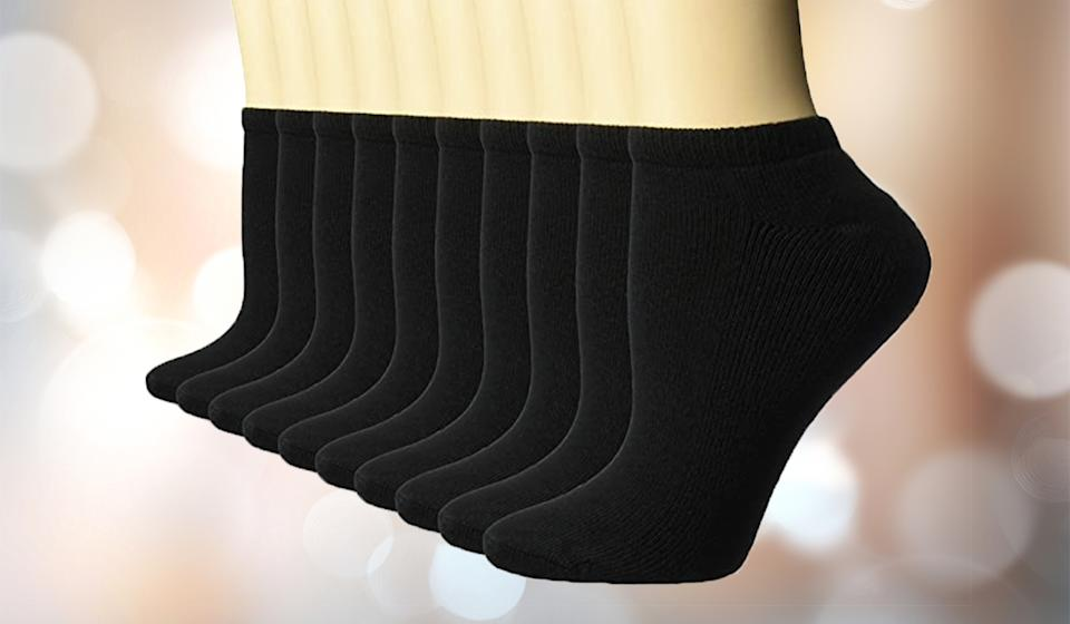The socks are available in both black and white. (Photo: Amazon)