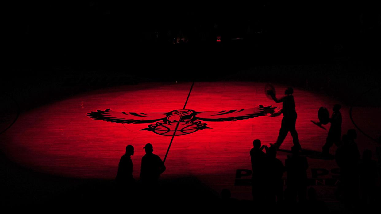 The Atlanta Hawks are being sued by a former employee. (Getty)