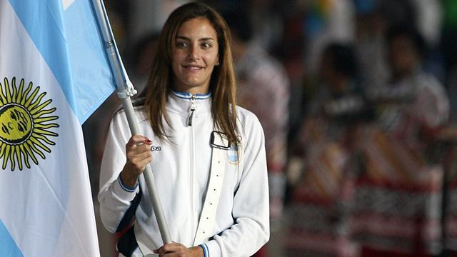 Argentina's women's field hockey team captain Luciana Aymar will carry the flag for her country. Her team won the Bronze medal in Beijing and will be looking to get higher up on the podium at the London games.
