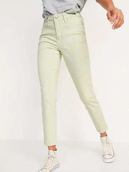 <p>Instead of classic blues, why not add a different hue to your denim collection like a pair of these <span>Old Navy High-Waisted O.G. Straight Mineral-Dye Jeans for Women</span> ($28-$40, originally $40) in green, peach, or taupe?</p>