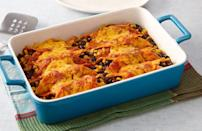 """<p><a href=""""https://www.thedailymeal.com/cook/best-mexican-recipes?referrer=yahoo&category=beauty_food&include_utm=1&utm_medium=referral&utm_source=yahoo&utm_campaign=feed"""" rel=""""nofollow noopener"""" target=""""_blank"""" data-ylk=""""slk:Make your favorite Mexican dishes at home"""" class=""""link rapid-noclick-resp"""">Make your favorite Mexican dishes at home</a>, starting with these seven-ingredient black bean enchiladas. Pack tomato-doused tortillas with drained and rinsed black beans and corn before baking and coating in melty cheese. </p> <p><strong><a href=""""https://www.thedailymeal.com/best-recipes/black-bean-enchiladas?referrer=yahoo&category=beauty_food&include_utm=1&utm_medium=referral&utm_source=yahoo&utm_campaign=feed"""" rel=""""nofollow noopener"""" target=""""_blank"""" data-ylk=""""slk:For the Black Bean Enchiladas recipe, click here."""" class=""""link rapid-noclick-resp"""">For the Black Bean Enchiladas recipe, click here.</a> </strong></p>"""