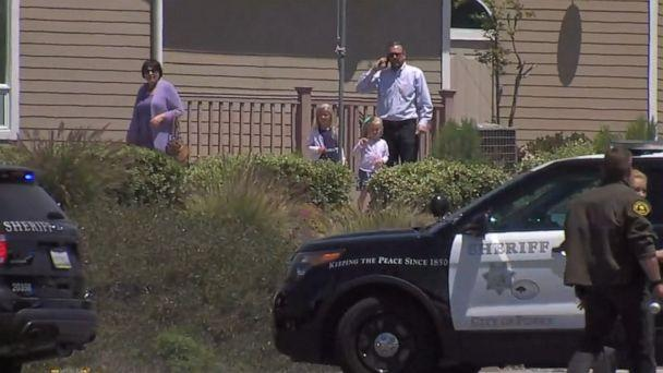 PHOTO: Police are at the scene of a shooting at Chabad of Poway synagogue in Poway, Calif., April 27, 2019. (KGTV )