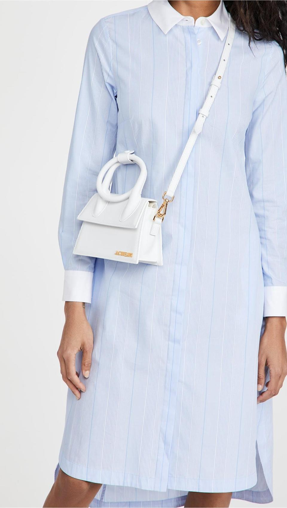 <p>This <span>Jacquemus Le Chiquito Noeud Bag </span> ($715) is so chic and minimal.</p>