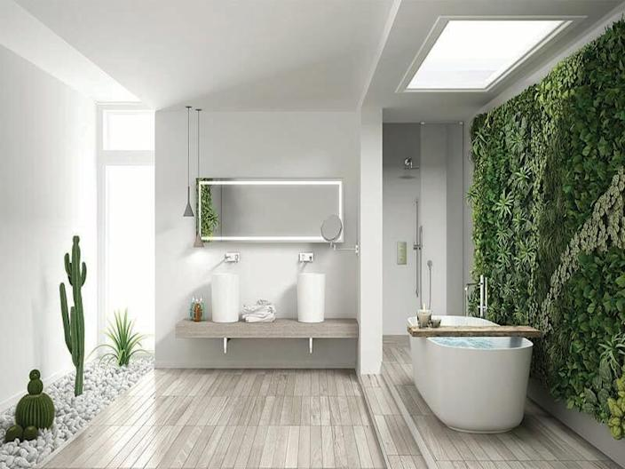Bathrooms with soft, integrated lighting features feel incredibly bright and airy.