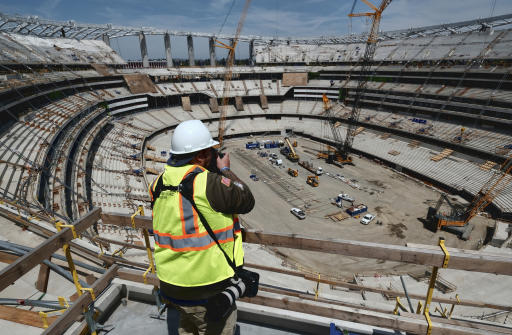 LA Stadium reaches milestone with completion of canopy shell