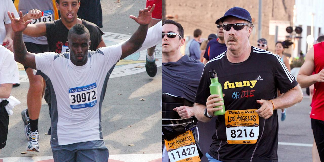 <p>If you've been on the fence about running a marathon, consider this the inspiration you've been looking for: These celebs have all trained and completed a 26.2-mile race. Find out how fast these actors, musicians, and more ran their races—and what time you need to beat them.</p>