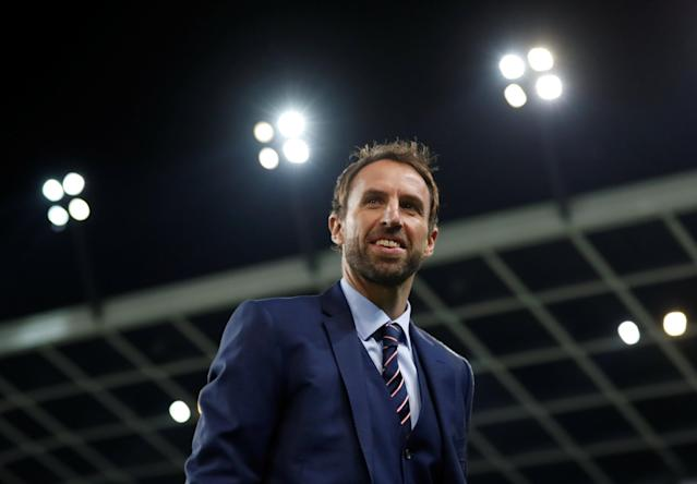 FILE PHOTO: Football Soccer - Slovenia v England - 2018 World Cup Qualifying European Zone - Group F - Stadion Stozice, Ljubljana, Slovenia - 11/10/16 England interim manager Gareth Southgate before the match Action Images via Reuters / Carl Recine /File Photo