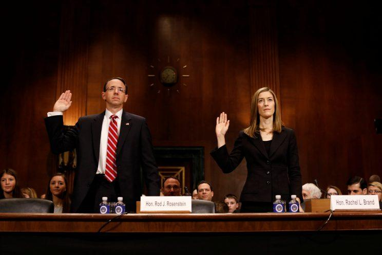 Rod Rosenstein and Rachel Brand