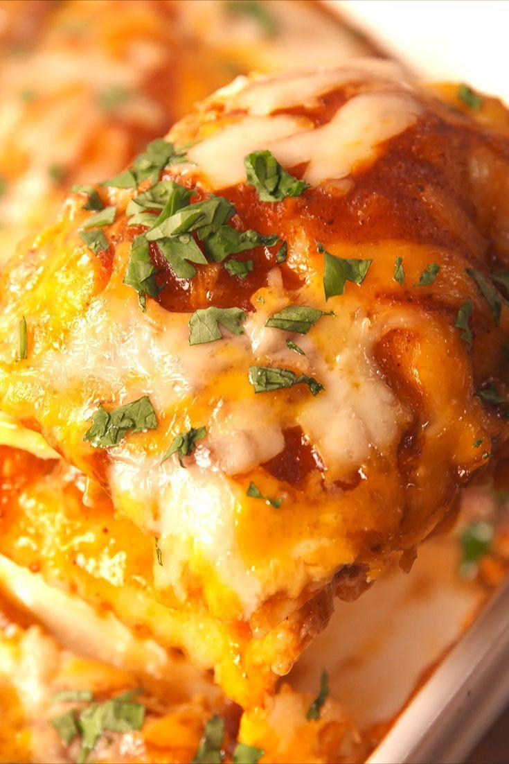 """<p>Why choose between Mexican and Italian when you don't have to?</p><p>Get the recipe from <a href=""""https://www.delish.com/cooking/recipe-ideas/recipes/a57006/chicken-enchilada-ravioli-bake-recipe/"""" rel=""""nofollow noopener"""" target=""""_blank"""" data-ylk=""""slk:Delish"""" class=""""link rapid-noclick-resp"""">Delish</a>. </p>"""