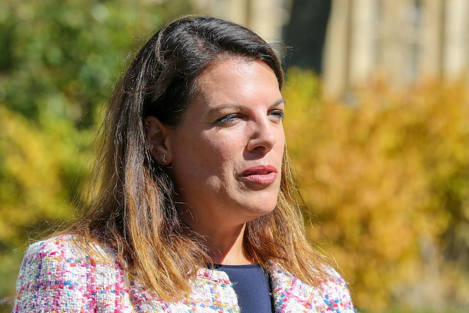 LONDON, UNITED KINGDOM - 2019/09/04: Former Immigration Minister Caroline Nokes is seen at College Green in  Westminster, London. (Photo by Steve Taylor/SOPA Images/LightRocket via Getty Images)