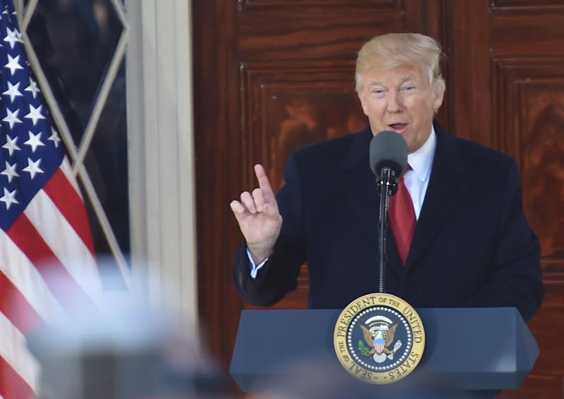 US President Donald Trump speaks in Nashville, Tennessee on March 15, 2017