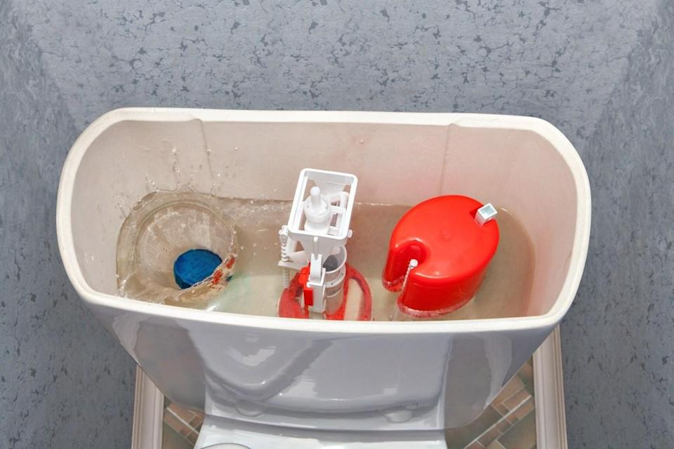 """Those tablet toilet cleaners may seem like an easier way to clean your toilet, but they can cause major damage in the long run. """"Those harsh chemicals hurt the interior components of the toilet,"""" says Maher. If you use them consistently, this may mean you have to frequently replace those rubber seals and valves that keep your plumbing working properly."""