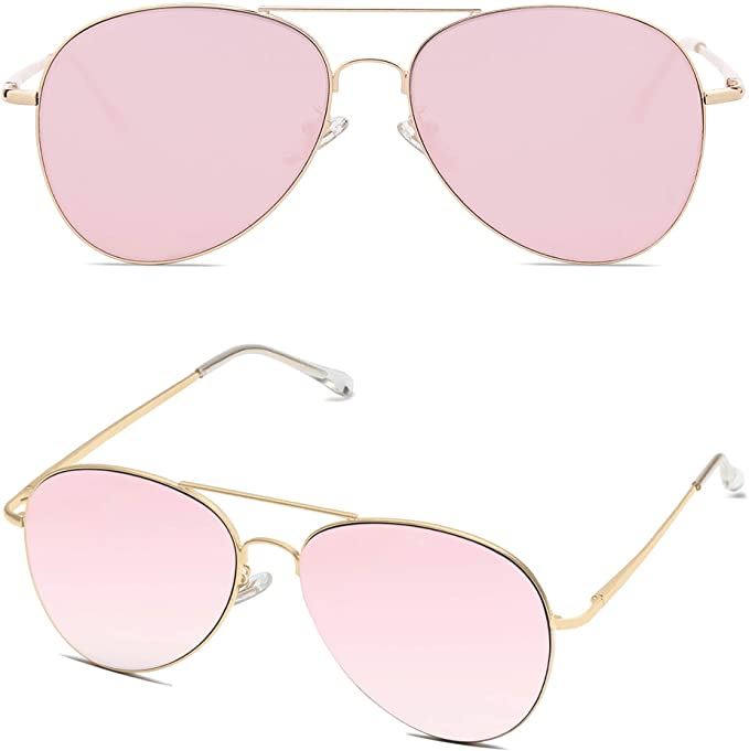 """<h2>SOJOS Classic Aviator Sunglasses</h2><br>Pink isn't only for Wednesdays with these cuties. Spice up a classic aviator with rose-colored lenses, and your world will look a little more cheery. <br><br><strong>The Hype:</strong> 4.5 out of 5 stars and 20,016 reviews<br><br><strong>What They Are Saying:</strong> """"I would usually never purchase sunglasses online. After reading the reviews and looking through customer photos with them, I went ahead and ordered them. They are awesome! If you're questioning buying them, just do it! I'll be purchasing more today! Mine is the rose gold."""" - Amazon reviewer<br><br><em>Shop <strong><a href=""""https://amzn.to/35n30OZ"""" rel=""""nofollow noopener"""" target=""""_blank"""" data-ylk=""""slk:Sojos"""" class=""""link rapid-noclick-resp"""">Sojos</a></strong></em><br><br><strong>Sojos</strong> SOJOS Classic Aviator Sunglasses, $, available at <a href=""""https://amzn.to/3gvDc8H"""" rel=""""nofollow noopener"""" target=""""_blank"""" data-ylk=""""slk:Amazon"""" class=""""link rapid-noclick-resp"""">Amazon</a>"""