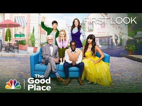 """<p><em>The Good Place</em> takes all your questions about the afterlife and takes them up a notch. Eleanor Shellstrop (Kristen Bell) is vain, rude, and downright unpleasant, but people can change, right?</p><p><a href=""""https://www.youtube.com/watch?v=Bnq6IRgt4yE"""" rel=""""nofollow noopener"""" target=""""_blank"""" data-ylk=""""slk:See the original post on Youtube"""" class=""""link rapid-noclick-resp"""">See the original post on Youtube</a></p>"""