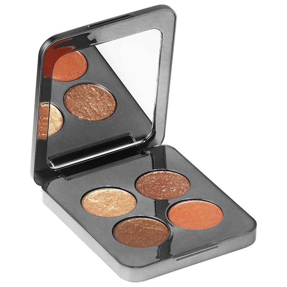 "<h2>Roen Beauty 75° Warm Eyeshadow Palette </h2><br>""All four of the warm, golden shades in this palette are stunning, but I'm most obsessed with the compact itself: The chrome square is small enough to slip into any makeup bag and has a mirror on the top plate, which is handy when I'm traveling (so I don't have to use the front-facing camera on my phone if I'm mirrorless). The texture of the shadow is soft and buttery enough that I can use my ring finger to pick up the pigment and dab it over my eyelids for a sheer wash of gold or copper sparkle. That's nice because, like my mirror predicament, I'm often without a shadow brush."" — Megan Decker, beauty editor<br><br><strong>ROEN BEAUTY</strong> 75° WARM EYE SHADOW PALETTE, $, available at <a href=""https://go.skimresources.com/?id=30283X879131&url=https%3A%2F%2Fwww.roenbeauty.com%2Fproducts%2F75-eye-shadow-palette"" rel=""nofollow noopener"" target=""_blank"" data-ylk=""slk:ROEN BEAUTY"" class=""link rapid-noclick-resp"">ROEN BEAUTY</a>"