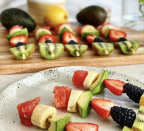 """<p>Sometimes a satisfying, low-calorie dessert can be as simple as making fruit more fun. Just look at those colors!</p><p><strong><em><a href=""""https://www.instagram.com/p/CK4fk_pBXng/"""" rel=""""nofollow noopener"""" target=""""_blank"""" data-ylk=""""slk:Get the recipe from Nomadista Nutrition »"""" class=""""link rapid-noclick-resp"""">Get the recipe from Nomadista Nutrition »</a></em></strong></p>"""