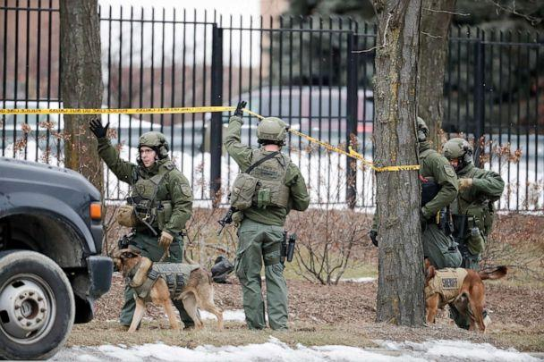 PHOTO: Police respond to reports of an active shooting at the Molson Coors Brewing Co. campus in Milwaukee, Feb. 26, 2020. (Morry Gash/AP)