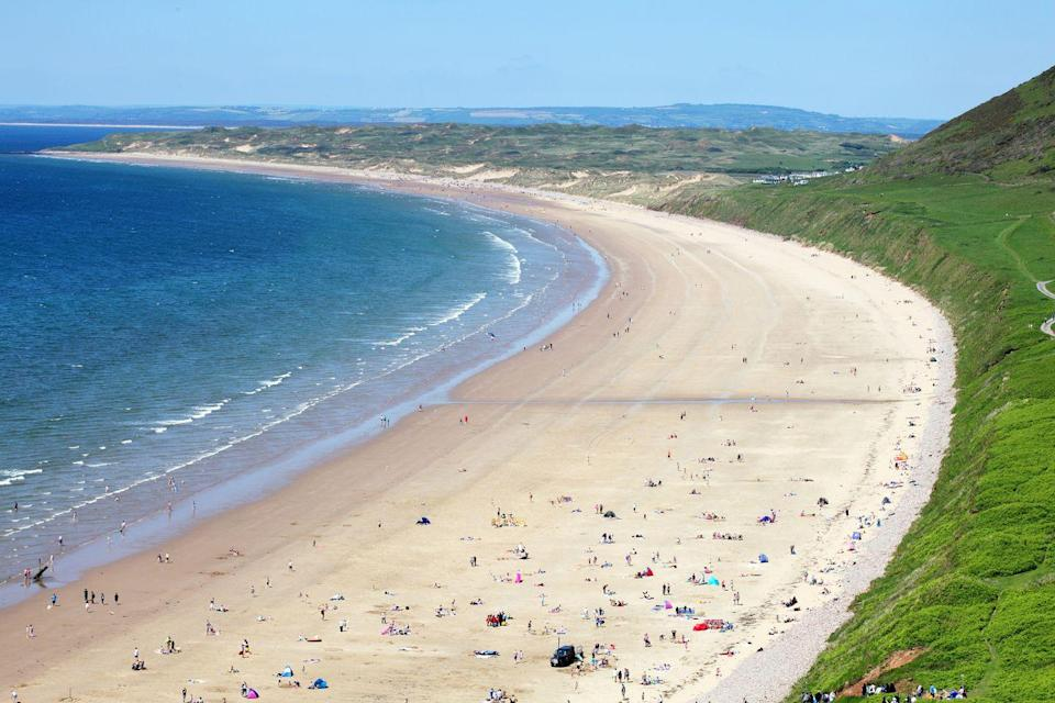"""<p>You might recognise Rhossili Beach from the Lloyds TSB advert with the roaming horses. Three miles long with shallow waters for paddling and lined with plenty of places to eat, this has to be one of the best beaches in Europe - and <a href=""""https://www.cosmopolitan.com/uk/entertainment/travel/g4958/best-beaches-in-uk/"""" rel=""""nofollow noopener"""" target=""""_blank"""" data-ylk=""""slk:definitely the UK."""" class=""""link rapid-noclick-resp"""">definitely the UK. </a></p>"""