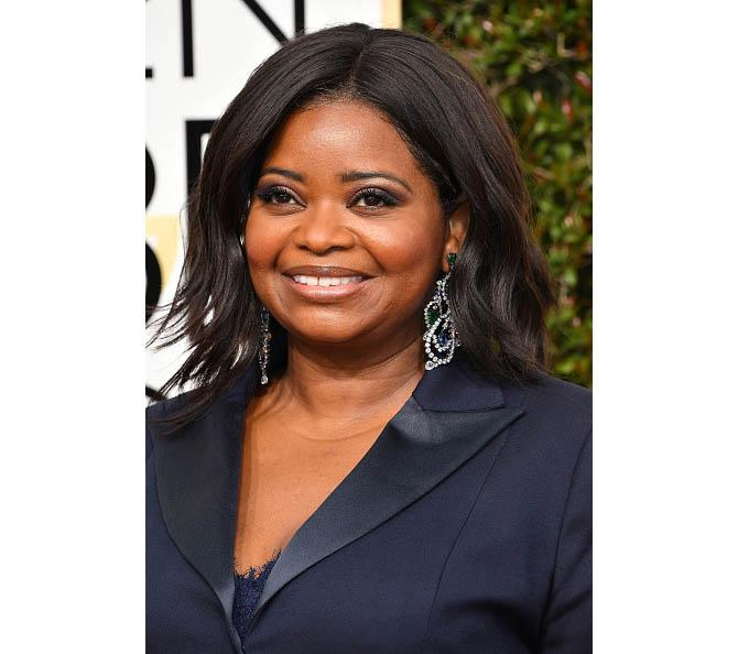 Octavia Spencer in Lorraine Schwartz at the Golden Globes. Photo: Steve Granitz/WireImage