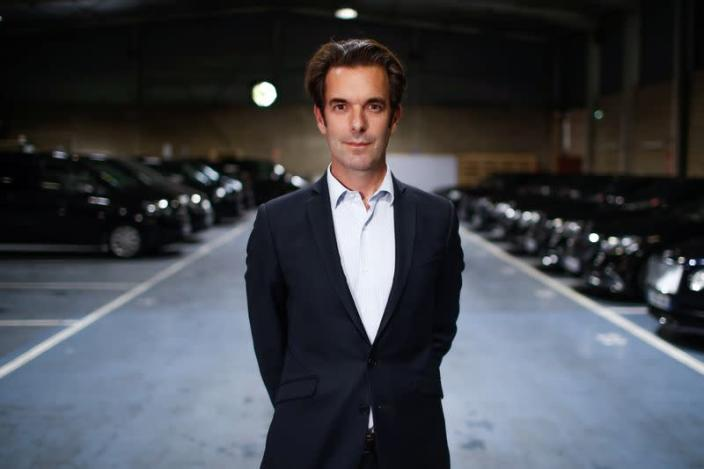 Guillaume Connan, managing director of Chabe, Chauffeured Cars Services, poses at the company's headquarters in Nanterre