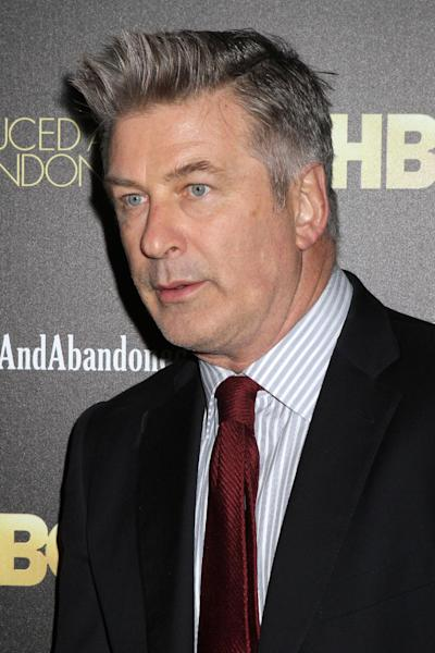 "FILE, In this Oct. 24, 2013 file photo, producer and actor Alec Baldwin attends the HBO premiere of ""Seduced and Abandoned"" at The Time Warner Center in New York. Baldwin is putting a twist on his rocky relationship with the media: He's playing a meddling newspaperman on a NBC drama. The network said Tuesday, Feb. 25, 2014, that Baldwin guest stars as a New York columnist on ""Law & Order: Special Victims Unit,"" airing March 19, 2014. (Photo by Greg Allen/Invision/AP, file)"