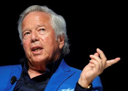 FILE PHOTO: New England Patriots owner Robert Kraft attends a conference at the Cannes Lions Festival in Cannes, France, June 23, 2017. REUTERS/Eric Gaillard