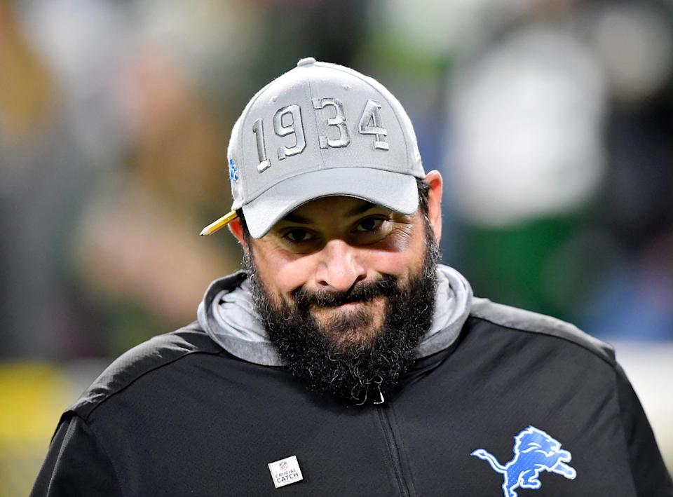 Detroit Lions coach Matt Patricia before the game against the Green Bay Packers at Lambeau Field on October 14, 2019 in Green Bay, Wisconsin.