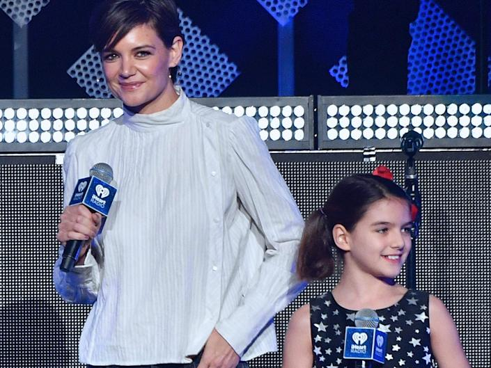 Katie Holmes and Suri were together on stage in 2017.
