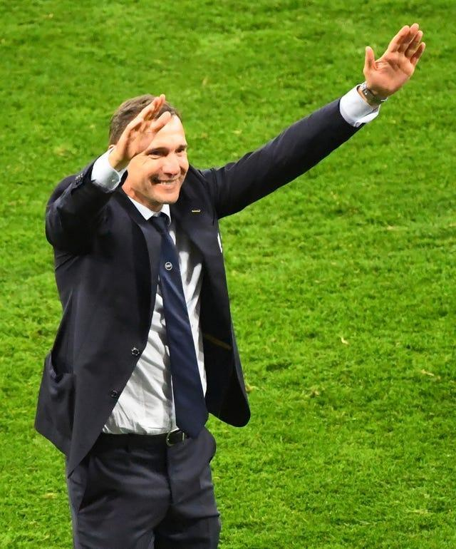 Andriy Shevchenko has guided Ukraine into the quarter-finals for the first time