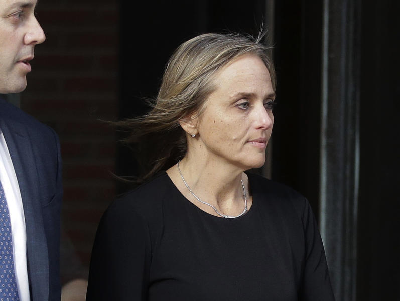 District Court Judge Shelley M. Richmond Joseph departs federal court, Thursday, April 25, 2019, in Boston after facing obstruction of justice charges for allegedly helping a man in the country illegally evade immigration officials as he left her Newton, Mass., courthouse after a hearing in 2018. (AP Photo/Steven Senne)