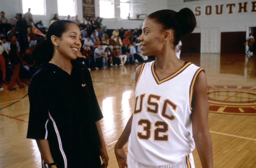 """<b>Bench:</b><br>Monica Wright (Sanaa Lathan) in """"Love & Basketball"""" (2000) -- She's tougher than every single player on this team. You can't coach that kind of toughness."""
