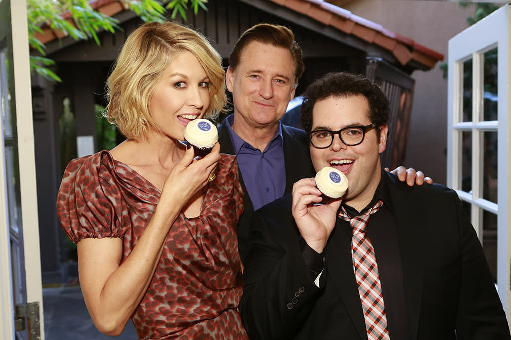 NBCUNIVERSAL EVENTS -- NBCUniversal Press Tour January 2013 -- Pictured: (l-r) Jenny Elfman, Bill Pullman, Josh Gad -- (Photo by: Trae Patton/NBC/NBCU Photo Bank)