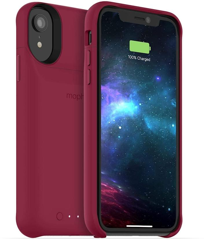<p>If you're constantly on the go and need a phone that can work all day long, invest in the <span>Mophie Juice Pack</span> ($17, originally $22). The case protects and charges your phone when you need it.</p>